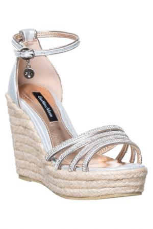 Wedge sandals GianMarco Venturi. Цвет: silver