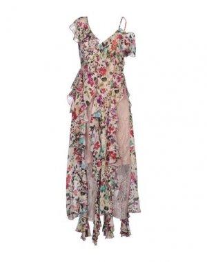 Платье длиной 3/4 ANNA RACHELE. Цвет: светло-розовый