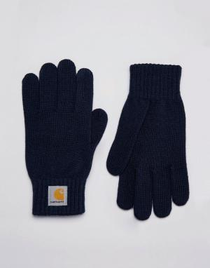 Перчатки WIP Carhartt. Цвет: темно-синий