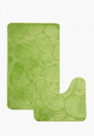 Комплект ковриков CTIM Фремонт. Цвет: зеленый