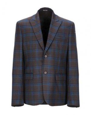 Пиджак SIMON PEET. Цвет: темно-коричневый