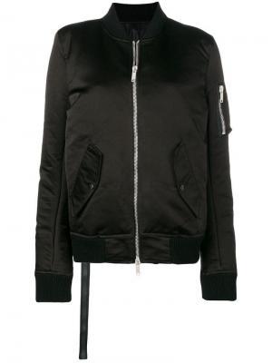 Дутая куртка-бомбер Unravel Project. Цвет: черный