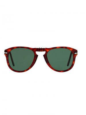 Солнцезащитные очки в круглой оправе Persol. Цвет: красный