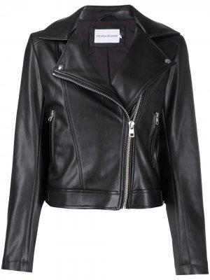 Байкерская куртка с капюшоном Calvin Klein Jeans. Цвет: черный