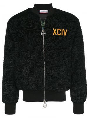 Куртка-бомбер с вышивкой Gcds. Цвет: черный