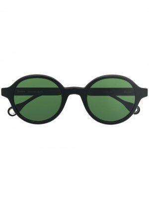 Солнцезащитные очки Bakayoko в круглой оправе Etudes. Цвет: черный