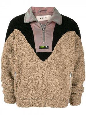 Флисовый свитер на молнии Misbhv. Цвет: нейтральные цвета