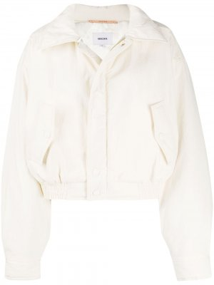 Куртка-бомбер Bomi Nanushka. Цвет: нейтральные цвета
