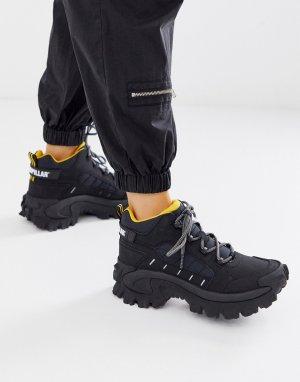 Черные гибридные высокие походные кроссовки CAT Resistor-Черный Footwear