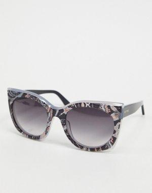 Круглые солнцезащитные очки в черепаховой оправе Etro-Коричневый цвет ETRO