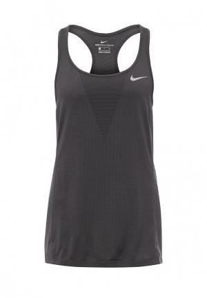 Майка спортивная Nike W NK ZNL CL RELAY TANK. Цвет: серый