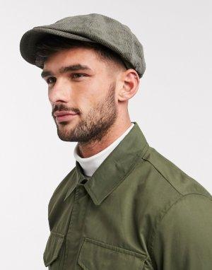 Вельветовая кепка оливкового цвета -Зеленый Ben Sherman