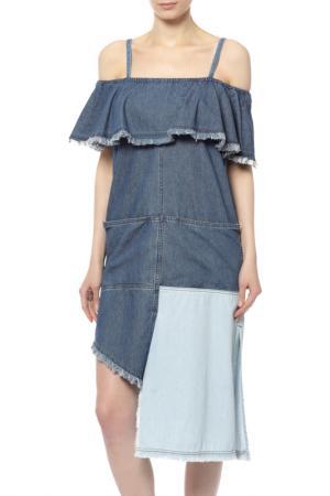 Платье джинсовое SJYP. Цвет: мультицвет