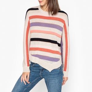 Пуловер с круглым вырезом из трикотажа WILLIAM BERENICE. Цвет: разноцветный
