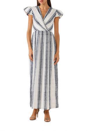 Платье BELUCCI. Цвет: бело-синяя полоска