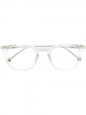 Очки в прозрачной оправе Matsuda. Цвет: белый