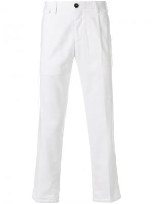 Укороченные брюки чинос Pt01. Цвет: белый