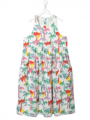 TEEN palm tree-print dress Stella McCartney Kids. Цвет: белый