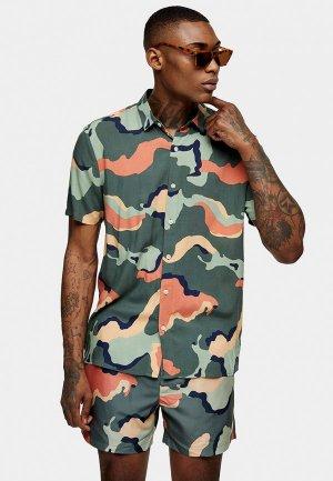 Рубашка Topman. Цвет: разноцветный
