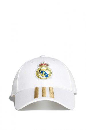 Бейсболка REAL C40 CAP adidas. Цвет: белый