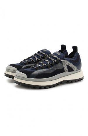 Кожаные кроссовки Giorgio Armani. Цвет: синий