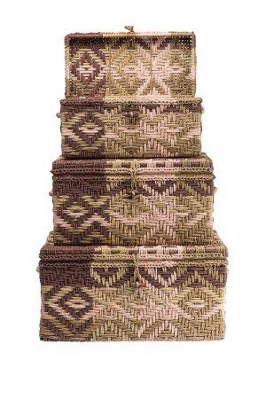 Сундук Gobi, набор 3 штуки Kare. Цвет: коричневый