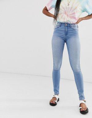 Зауженные джинсы -Синий Noisy May