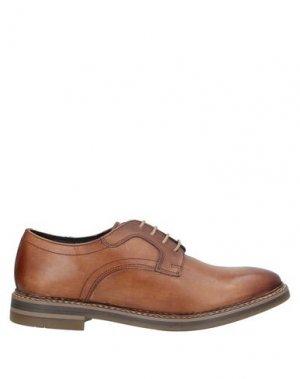 Обувь на шнурках BASE London. Цвет: желто-коричневый