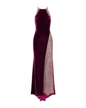 Длинное платье BADGLEY MISCHKA. Цвет: баклажанный