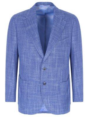 Пиджак из шерсти и шелка STILE LATINO