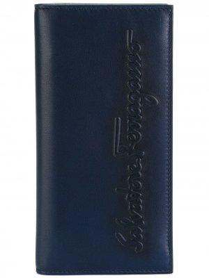 Кошелек Kentucky с тиснением Salvatore Ferragamo. Цвет: синий