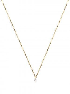 Колье из желтого золота с бриллиантами THE ALKEMISTRY. Цвет: золотистый