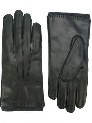 Кожаные перчатки Orciani. Цвет: черный
