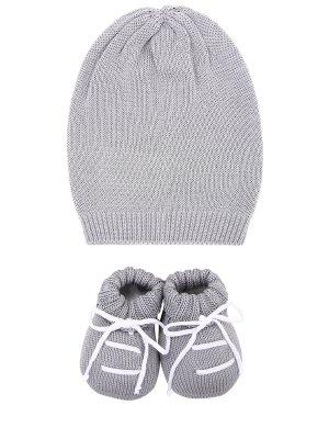 Комплект из пинеток и шапочки La Perla. Цвет: серый