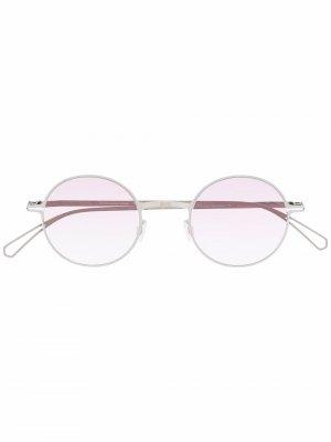 Солнцезащитные очки Brenda в круглой оправе Mykita. Цвет: серебристый