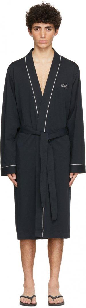 Navy Cotton Kimono Robe Boss. Цвет: 403 dk lbue