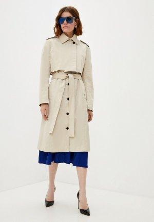 Куртка и жилет Karl Lagerfeld. Цвет: бежевый