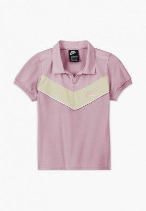 Поло Nike G NSW HERITAGE SS POLO. Цвет: фиолетовый