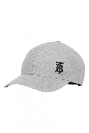 Серая бейсболка Burberry. Цвет: серый