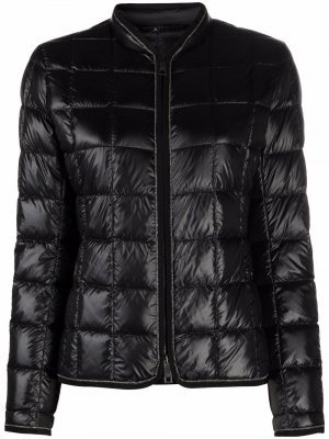 Quilted collarless jacket Fay. Цвет: черный