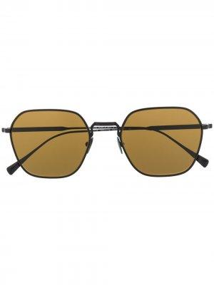 Солнцезащитные очки в массивной оправе Giorgio Armani. Цвет: черный