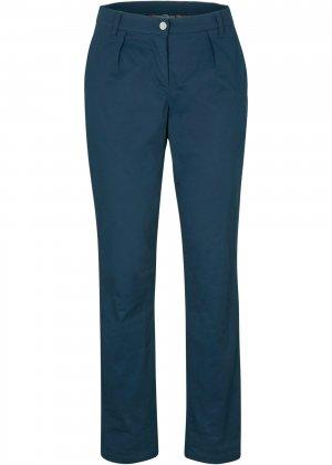Утеплённые брюки-чиносы bonprix. Цвет: синий