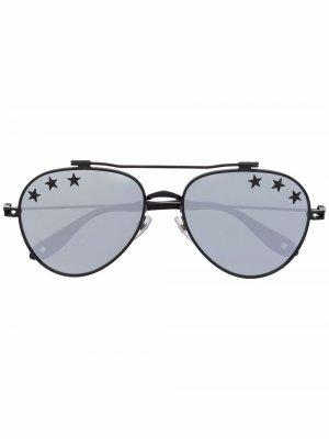 Star print aviator sunglasses Givenchy Eyewear. Цвет: черный