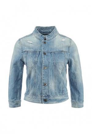 Куртка джинсовая G-Star. Цвет: голубой