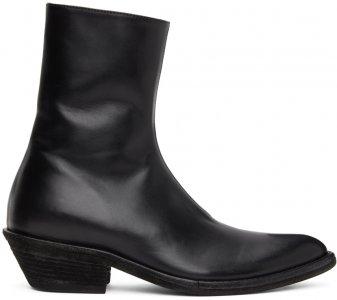 Black Evening Chelsea Boots Haider Ackermann. Цвет: black