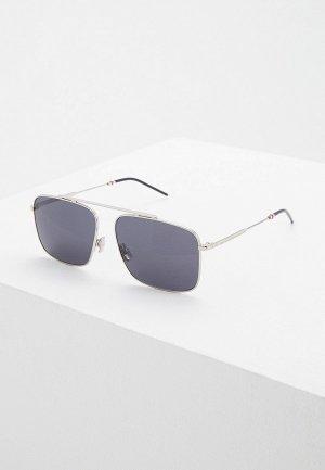Очки солнцезащитные Christian Dior Homme DIOR0220S 010 GREY. Цвет: серебряный