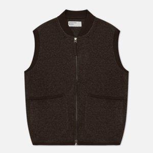 Мужской жилет Zip Wool Fleece Universal Works. Цвет: коричневый