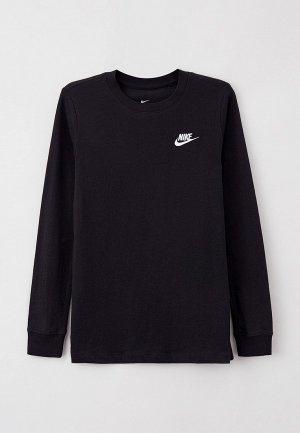 Лонгслив Nike B NSW TEE LS EMB FUTURA. Цвет: черный