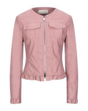 Куртка KAOS JEANS. Цвет: пастельно-розовый