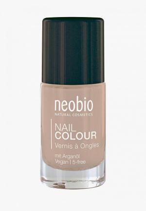 Лак для ногтей Neobio №10 5-FREE, с аргановым маслом. Идеальный телесный. Цвет: бежевый
